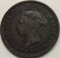 1881H CANADA LARGE CENT COIN  CANADIAN ONE CENT