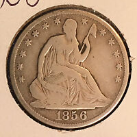 1856 O 50C LIBERTY SEATED HALF DOLLAR [AUTO COMB. SHIPPING]26393
