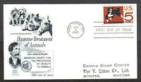 US FDC 1966 HUMANE TREATMENT OF ANIMALS 5C FLEETWOOD FIRST DAY OF ISSUE COVER NY