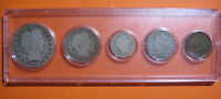 1900 US COIN YEAR SET 5 COINS 90 SILVER