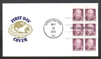 US FDC 1971 EISENHOWER 8C BOOKLET STAMPS FIRST DAY OF ISSUE COVER