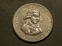 BRITAIN LONDON & MIDDLESEX PRINCE OF WALES C1790 HALFPENNY CONDER TOKEN 5019