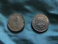 BICENTENNIAL LOT OF TWO 1776 1976 EW BLISS SINCE 1857 INDUSTRIAL STAMPED COIN