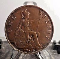 CIRCULATED 1935 1 PENNY UK COIN 1231162