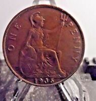CIRCULATED 1935 1 PENNY UK COIN 1231161