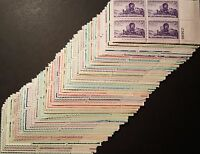 LARGE LOT 100 MINT  US PLATE BLOCKS OLD STAMPS VINTAGE COLLECTION