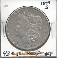 1879-S MORGAN SILVER DOLLAR, APPEARS TO BE  EXTRA FINE  YOU GRADE - SKU M20