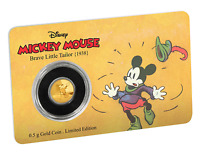 2016 DISNEY MICKEY MOUSE    BRAVE LITTLE TAILOR 0.5 GRAM .9999 GOLD COIN