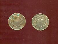 1865 & 1866 2 TWO CENT PIECE LOT PROBLEM COINS HIGH GRADE