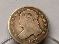 1830 CAPPED BUST LIBERTY TEN CENT PIECE 10 CENTS