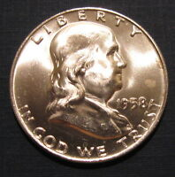 BU 1958 D FRANKLIN HALF DOLLAR MS UNCIRCULATED