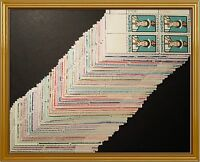 OLD LARGE LOT OF 100 MINT NH US PLATE BLOCK VINTAGE STAMPS COLLECTION