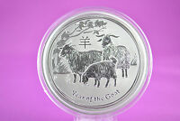 2015 2 OZ SILVER LUNAR YEAR OF THE GOAT COIN