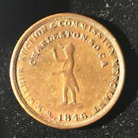 1846 SLAVE AUCTIONEER TOKEN / MEDAL / COIN
