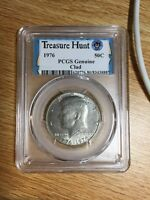 PCGS SAMPLE 1976 HALF DOLLAR GENUINE CLAD FROM LONG BEACH EXPO TREASURE HUNT