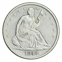 1844 SEATED LIBERTY HALF DOLLAR LARGE  SILVER COIN [3048.07]