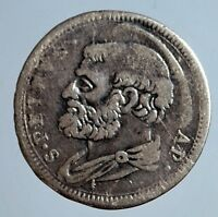 AN   PAPAL STATES   CLEMENTE XII 1730 1740 GROSSO ROMA ANNO V. MUNT. RARO