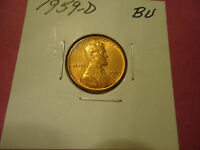 1959 D BU LINCOLN CENT             WE COMBINE SHIPPING