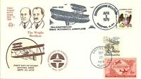 WRIGHT BROTHERS, KITTY HAWK 75TH ANNIVERSARY STAMP FDC DAYTON OH 9/23/1978