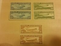 LARGE STAMP COLLECTION,1930 GRAFF ZEPPELIN AIRMAIL ISSUE DOUBLES-SET  MINT-OG/NH