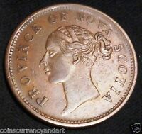 NOVA SCOTIA ,CANADA  ONE  PENNY TOKEN 1843 NS 2D1   HIGH GRADE