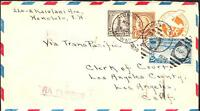 TRANS PACIFIC CLIPPER MAIL HONOLULU HAWAII TO LOS ANGELES 1936 FLIGHT COVER 3694