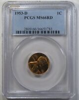1953-D LINCOLN WHEAT CENT PCGS MINT STATE 66RD