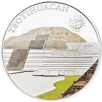 PALAU 2012 5$ WORLD OF WONDERS VI TEOTIHUACAN SILVER COIN LIMIT 2500