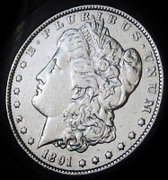 1891 S MORGAN DOLLAR   ALMOST UNCIRCULATED   FAST SHIPPING   FAST COIN DELIVERY