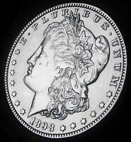 1898 O MORGAN DOLLAR   ALMOST UNCIRCULATED   BETTER DATE COIN  FAST COIN SHIP