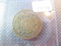 1865 US 2 CENT COIN GOOD DETAILS UNGRADED ITEM3304