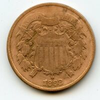 1868 TWO CENT  FINE DETAIL,CLEANED   HUCKY