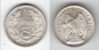 CHILE    SILVER 10 CENTAVOS UNC COIN 1896 YEAR KM156.1