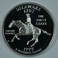1999 S DELAWARE STATE SILVER PROOF QUARTER     SEE STORE FOR DISCOUNTS BR14