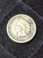 1860 INDIAN HEAD PENNY INCLUDES COIN SLAB