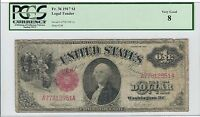 1917 $1 ONE DOLLAR BILL UNITED STATES LEGAL TENDER LARGE NOTE   PCGS VG 8