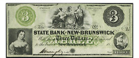 NEW BRUNSWICK NJ  STATE BANK AT NEW BRUNSWICK $3 1800'S