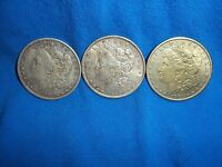 OH WHAT A DEAL   3 MORGAN SILVER DOLLARS 1881,1883,1884 O
