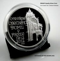 200 CZK KORUN ART NOUVEAU MUNICIPAL HOUSE PRAGUE   2012 CZECH PROOF SILVER COIN