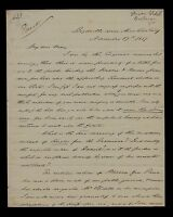 HISTORIC 1857 WEST VIRGINIA SENATOR LETTER - PRESIDENT BUCHANAN, MASON SLIDELL
