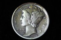 1924 P MERCURY DIME LOT 1J38 VF EF 10C 10 CENT US SILVER COIN NICE COIN