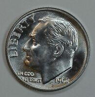 1962 D ROOSEVELT UNCIRCULATED SILVER DIME BU SEE STORE FOR DISCOUNTS YE25