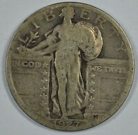 1927 STANDING LIBERTY SILVER QUARTER  SEE STORE FOR DISCOUNTS  GR04