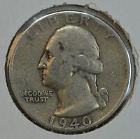 1940 WASHINGTON CIRCULATED SILVER QUARTER   SEE STORE FOR DISCOUNTS RD02