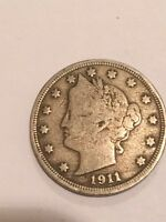1911 LIBERTY NICKEL FIVE-CENT PIECE 5C