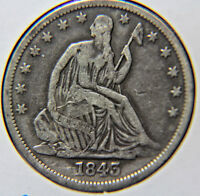 1843 O 50C LIBERTY SEATED HALF DOLLAR   LOT  HDSL 92
