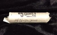 1976 D UNCIRCULATED ROLL OF ROOSEVELT DIMES