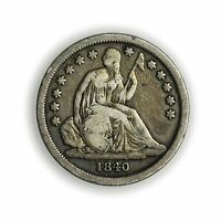 1840 SEATED LIBERTY DIME NO DRAPERY SMALL SILVER COIN [3206.12]
