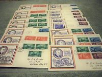 25 NEAT FDR CACHETED 1945 FDCS LOOK