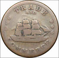 CIVIL WAR TOKEN CWT STORE CARD 1860'S TRADE AND COMMERCE COOPERS F 259/445A
